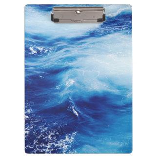Blue Water Waves in Ocean Clipboards