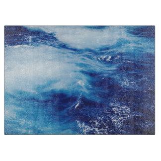 Blue Water Waves in Ocean Cutting Board