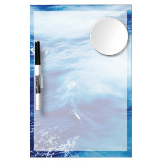 Blue Water Waves in Ocean Dry Erase Board With Mirror