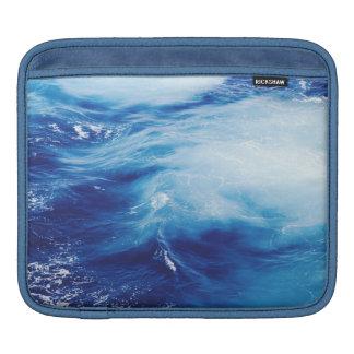 Blue Water Waves in Ocean iPad Sleeve