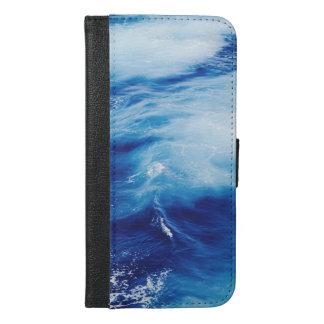 Blue Water Waves in Ocean iPhone 6/6s Plus Wallet Case