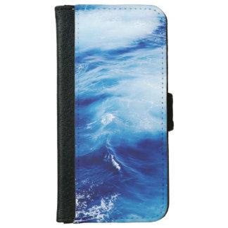 Blue Water Waves in Ocean iPhone 6 Wallet Case