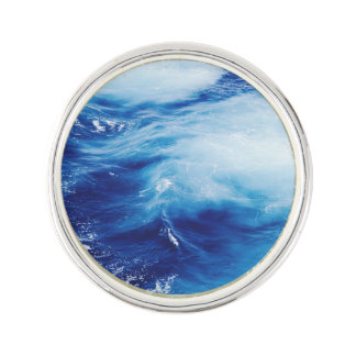 Blue Water Waves in Ocean Lapel Pin