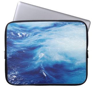 Blue Water Waves in Ocean Laptop Sleeve