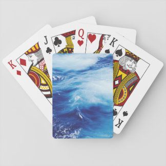 Blue Water Waves in Ocean Playing Cards