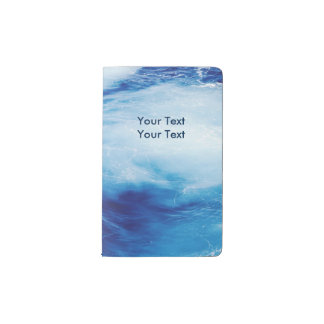 Blue Water Waves in Ocean Pocket Moleskine Notebook