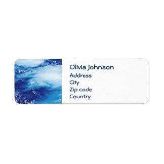 Blue Water Waves in Ocean Return Address Label