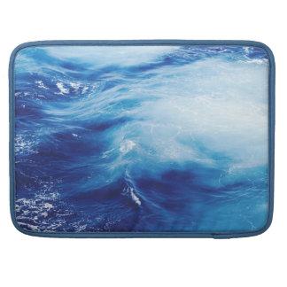Blue Water Waves in Ocean Sleeve For MacBook Pro