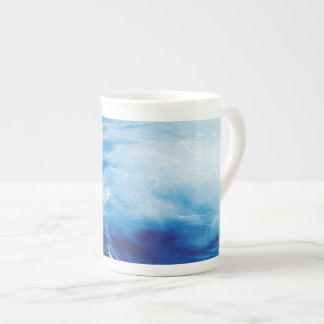 Blue Water Waves in Ocean Tea Cup