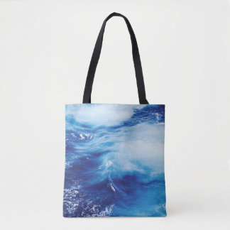 Blue Water Waves in Ocean Tote Bag