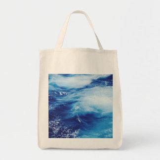 Blue Water Waves in Ocean Tote Bag