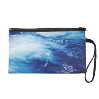 Blue Water Waves in Ocean Wristlet
