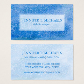 Blue Watercolor Background Business Card