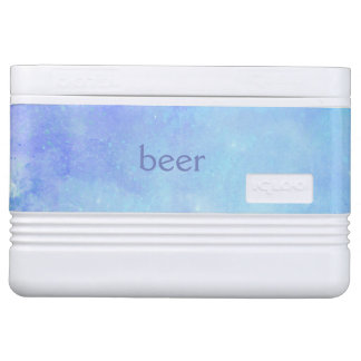 Blue Watercolor Beer Igloo Cooler