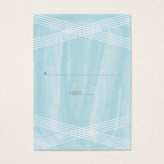 Blue Watercolor Deco Wedding Business Card