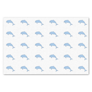 Blue watercolor dolphins tissue paper