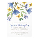 Blue Watercolor Flowers | Retirement Party Card