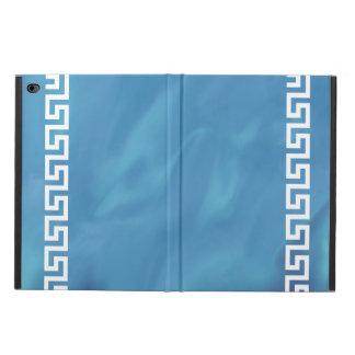 Blue Watercolor Greek Key