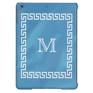 Blue Watercolor Greek Key Ipad Case