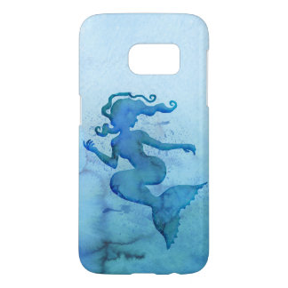 Blue Watercolor Mermaid