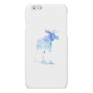 Blue watercolor Moose illustration