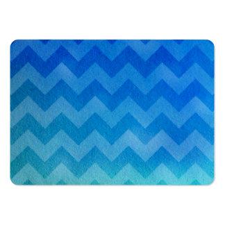 Blue Watercolor Ombre Chevron Business Card Template