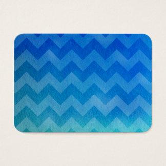 Blue Watercolor Ombre Chevron Business Card