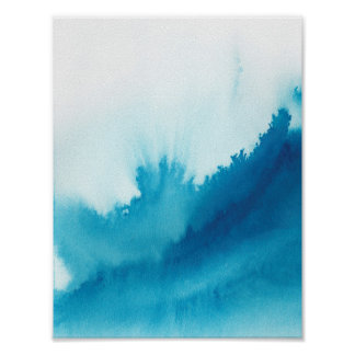 Blue Watercolor Poster