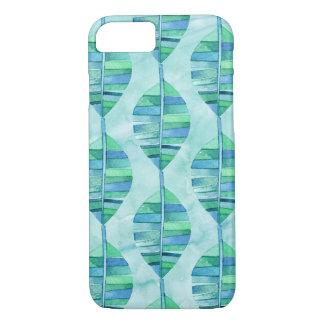Blue Watercolor Rainforest Leaf iPhone 7 Case