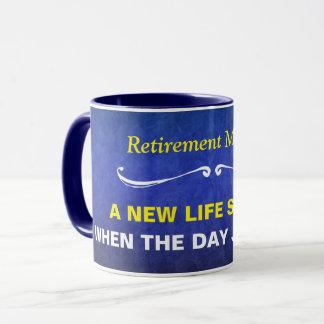 Blue Watercolor Retirement Mantra Mug