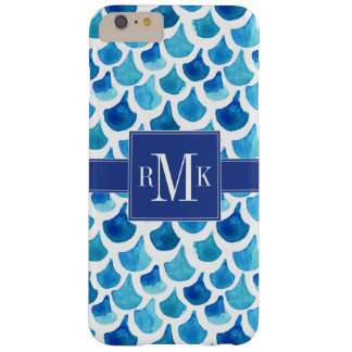 Blue Watercolor Scale Pattern Barely There iPhone 6 Plus Case