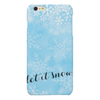 Blue Watercolor Snowflake iPhone cover