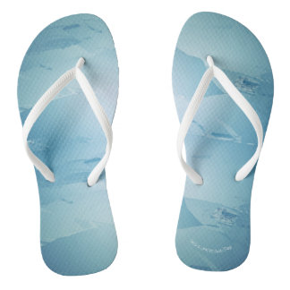 Blue Watercolor Spa Thongs