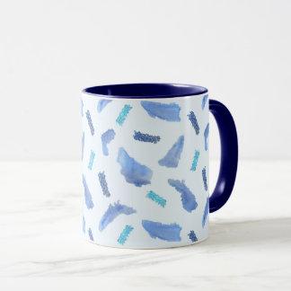 Blue Watercolor Spots 11 oz Combo Mug