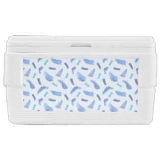 Blue Watercolor Spots 48 Quart Igloo Cooler