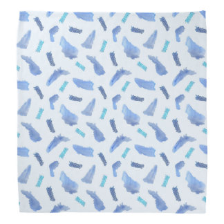 Blue Watercolor Spots Bandana