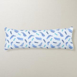 Blue Watercolor Spots Cotton Body Pillow