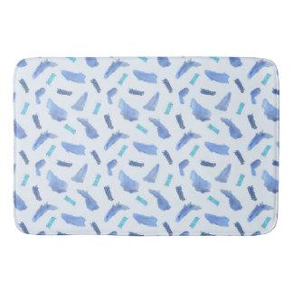 Blue Watercolor Spots Large Bath Mat Bath Mats