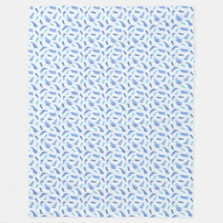 Blue Watercolor Spots Large Fleece Blanket