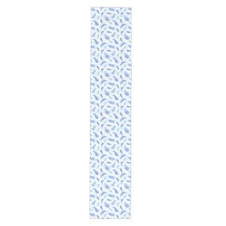 Blue Watercolor Spots Medium Table Runner