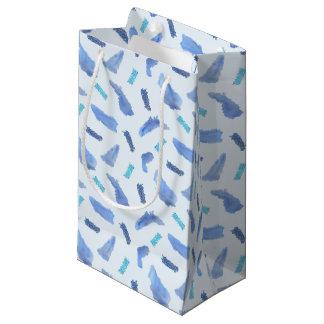 Blue Watercolor Spots Small Matte Gift Bag