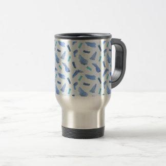 Blue Watercolor Spots Travel Mug