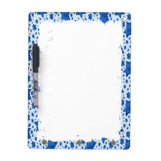 Blue Watercolor Star of David Dry Erase Board