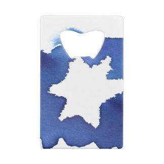 Blue Watercolor Star of David Resist