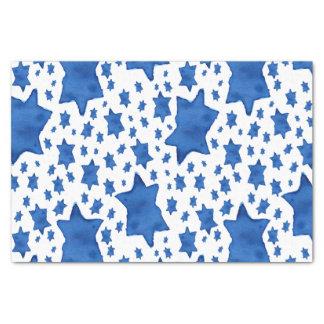 Blue Watercolor Star of David Tissue Paper