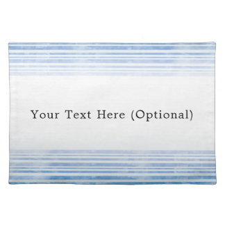 Blue Watercolor Striped Cloth Placemat