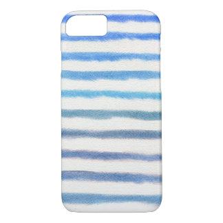 Blue Watercolor Stripes iPhone 8/7 Case