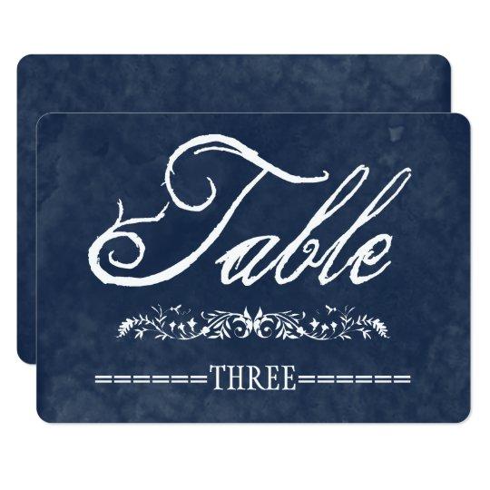 Blue Watercolor Wedding Table Numbers