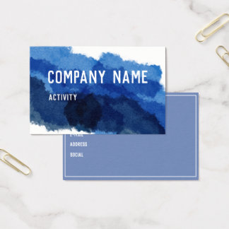 Blue Watercolour Business Card