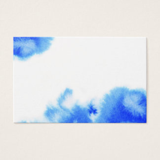 Blue watercolour creative design business card